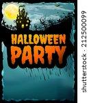 happy halloween party poster.... | Shutterstock .eps vector #212500099