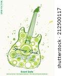 grungy guitar spring rock...   Shutterstock .eps vector #212500117
