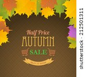 autumn sale concept background  ... | Shutterstock .eps vector #212501311