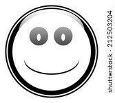 smile face button on white... | Shutterstock .eps vector #212503204