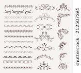 set vintage decorative frames ... | Shutterstock .eps vector #212507365