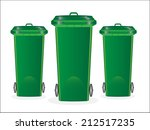 trash cans | Shutterstock .eps vector #212517235