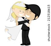 hug collection   bride and... | Shutterstock .eps vector #212518615