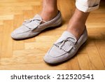 man's style  moccasins shoes | Shutterstock . vector #212520541