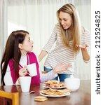 two women having conflict over... | Shutterstock . vector #212524825