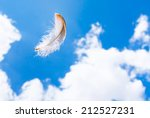 Floating Feather In The Sky