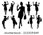 silhouettes of girls with...
