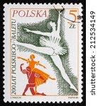 poland   circa 1985  a stamp...   Shutterstock . vector #212534149