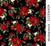 seamless floral pattern with of ... | Shutterstock . vector #212534929