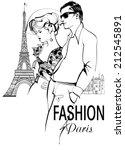 Fashionable Couple Strolling...