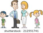 illustration of happy family of ... | Shutterstock . vector #212551741