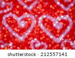 red glitter with heart