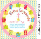 vector colorful birthday card...   Shutterstock .eps vector #212558149