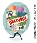 free delivery. vector... | Shutterstock .eps vector #212564545
