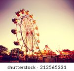 a fair ride shot with a long... | Shutterstock . vector #212565331