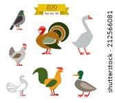 Flat Design Vector Birds Icon...