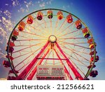 a fair ride shot with a long... | Shutterstock . vector #212566621