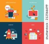 flat design vector illustration ... | Shutterstock .eps vector #212566699