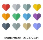 set of colorful hearts isolate | Shutterstock .eps vector #212577334