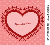 red background with heart   Shutterstock .eps vector #212580589
