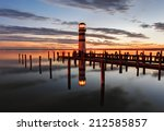 lighthouse at lake neusiedl at... | Shutterstock . vector #212585857