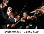 Conductor Directing Symphony...