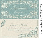 antique baroque wedding... | Shutterstock .eps vector #212597899