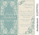 antique baroque wedding... | Shutterstock .eps vector #212597911
