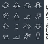 Stock vector clothing icons 212598394
