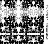 Vector pattern with white hand drawn flower viola tricolor. Black and white.
