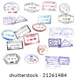 various visa stamps from... | Shutterstock . vector #21261484