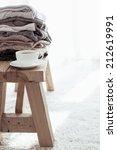 still life details  stack of... | Shutterstock . vector #212619991
