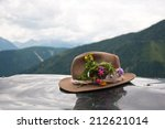 Brown Felt Hat Decorated With...