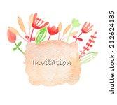 invitation watercolor hand...   Shutterstock .eps vector #212624185