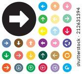 arrow sign vector icon set.... | Shutterstock .eps vector #212631394