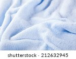 Soft Fluffy Blue Towel Spread...