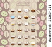the coffee menu infographics ... | Shutterstock .eps vector #212634211