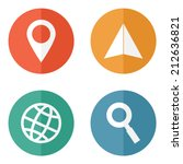 location and navigation icons.... | Shutterstock .eps vector #212636821