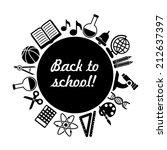 back to school vector... | Shutterstock .eps vector #212637397