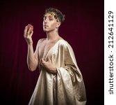 portrait of ancient roman man   Shutterstock . vector #212641129