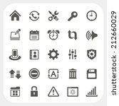 setting icons set | Shutterstock .eps vector #212660029
