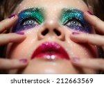 low depth of focus portrait of... | Shutterstock . vector #212663569