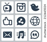 set of social icons | Shutterstock .eps vector #212665024