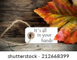 a autumn background with a... | Shutterstock . vector #212668399