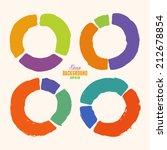 vector handmade marker stripes. ... | Shutterstock .eps vector #212678854