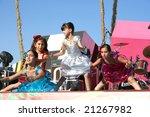 LIMASSOL,CYPRUS-JUNE 7:Unidentified children dancers in Cypriot-Russian festival June 7, 2008 in Limassol,Cyprus. - stock photo