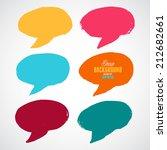 a set of grunge colorful speech ...   Shutterstock .eps vector #212682661