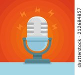 vector podcast icon in flat... | Shutterstock .eps vector #212684857