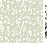 seamless pattern with musical... | Shutterstock . vector #212693749