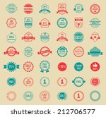 assorted designs vector colored ... | Shutterstock .eps vector #212706577